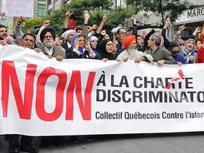 Protesters march against Islamophobia in Montreal