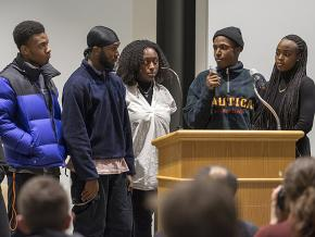 Students speak out against a racist assault at Syracuse University