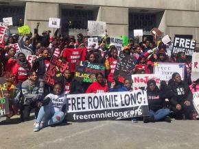 Supporters of Ronnie Long gather to rally for his freedom